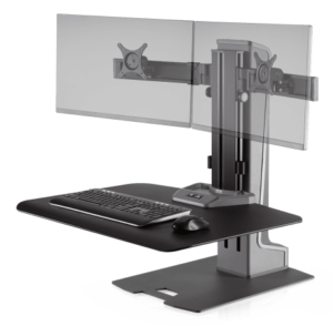 Innovative Winston E Dual Monitor Electric Sit Stand Workstation