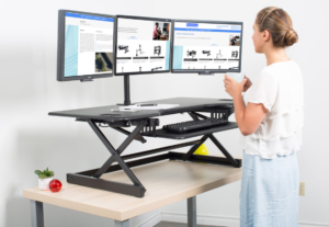 Rocelco DADR 46 adjustable sit stand desk riser