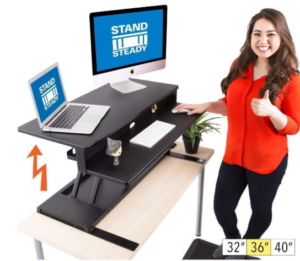 Flexpro Power 36 inch Electric Height Adjustable Standing Desk Converter