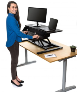 Stand Up Desk Store AirRise Electric Power Pro Two-Tier Standing Desk Converter