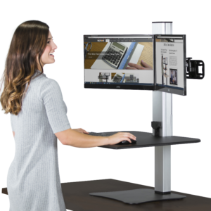 Victor High Rise Dual Monitor Electric Sit Stand Workstation